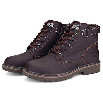 Men British Style High Top Leather Ankle Boots
