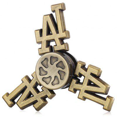 Retro Letter Shape Three-blade Fidget Spinner