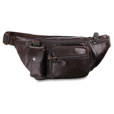 Genuine Leather Waist Pack with Adjustable Strap