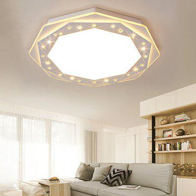 Modern Simple Round Crystal LED Ceiling Lamp 220V