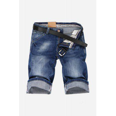 Chic Men Straight Leg Jeans Shorts