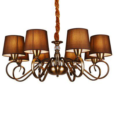 ZGPAX DJBCY010 Retro Iron E14 Base 8 Branches Pendant LightChandelier<br>ZGPAX DJBCY010 Retro Iron E14 Base 8 Branches Pendant Light<br><br>Battery Included: No<br>Brand: ZGPAX<br>Bulb Base: E14<br>Bulb Included: Yes<br>Chain / Cord Adjustable or Not: Chain / Cord Adjustable<br>Chain / Cord Length ( CM ): 50<br>Dimmable: No<br>Features: Bulb Included<br>Fixture Height ( CM ): 27<br>Fixture Length ( CM ): 80<br>Fixture Width ( CM ): 80<br>Light Direction: Downlight<br>Light Source Color: Warm White<br>Number of Bulb: 8 Bulbs<br>Number of Bulb Sockets: 8<br>Package Contents: 1 x Pendant Light Iron Body, 8 x Lampshade, 8 x Light Bulb<br>Package size (L x W x H): 67.00 x 43.00 x 22.00 cm / 26.38 x 16.93 x 8.66 inches<br>Package weight: 6.4200 kg<br>Product weight: 5.4000 kg<br>Remote Control Supported: No<br>Shade Material: Cloth, Iron<br>Style: Modern/Contemporary<br>Suggested Room Size: 20 - 30?<br>Suggested Space Fit: Bedroom,Game Room,Girls Room,Living Room<br>Type: Chandeliers<br>Voltage ( V ): AC220<br>Wattage (W): 40W<br>Wattage per Bulb ( W ): 8W