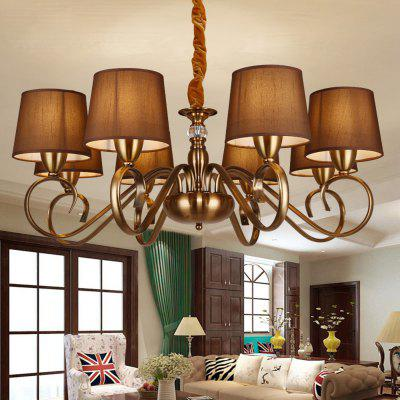 ZGPAX DJBCY010 Retro Iron E14 Base 8 Branches Pendant Light