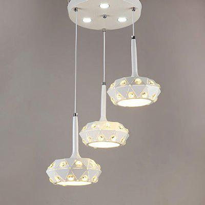 Simple Fashion Iron Hollow Three Head Pendant Light 220V