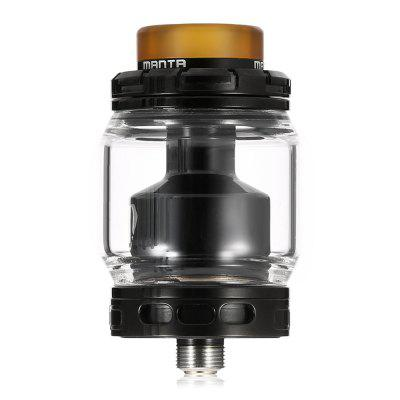 ADVKEN Manta RTARebuildable Atomizers<br>ADVKEN Manta RTA<br><br>Brand: ADVKEN<br>Material: Stainless Steel<br>Model: Manta<br>Overall Diameter: 24mm<br>Package Contents: 1 x Atomizer, 1 x Cloth, 1 x Accessory Bag, 1 x Glass Tank, 1 x Screwdriver<br>Package size (L x W x H): 8.00 x 8.00 x 3.70 cm / 3.15 x 3.15 x 1.46 inches<br>Package weight: 0.1290 kg<br>Product size (L x W x H): 4.50 x 2.40 x 2.40 cm / 1.77 x 0.94 x 0.94 inches<br>Product weight: 0.0460 kg<br>Rebuildable Atomizer: RBA,RTA<br>Tank Capacity: 3.0ml,5.0ml<br>Thread: 510<br>Type: Tank Atomizer, Rebuildable Atomizer