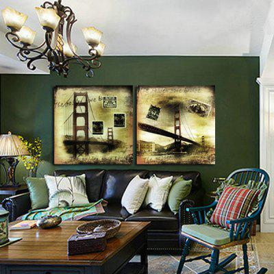 2pcs Famous Bridge Printing Canvas Wall Decoration