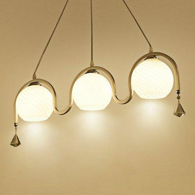 Minimalist Adjustable Glass Three Head Chandelier 220V