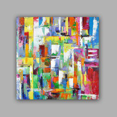 Happy Art Hand Painted Colorful Abstract Style Oil Painting Decoration