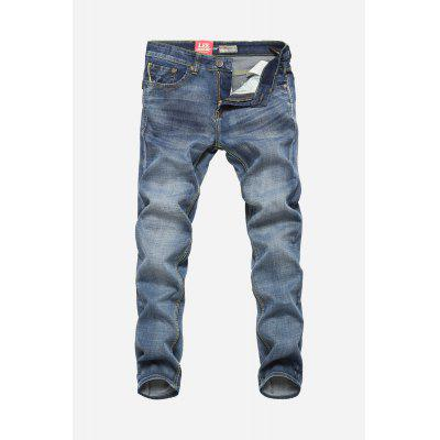Popular Men Straight Leg Jeans Pants