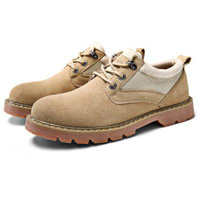 Genuine Leather Outdoor Casual Ankle Boots for Men