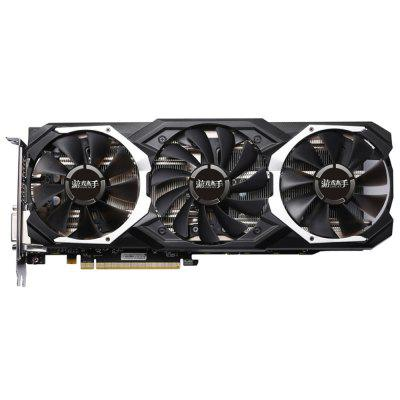 Yeston RX580 GPU 8G 256bit DDR5 Graphics Card  -  8G  BLACK