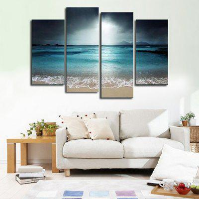4PCS Seascape Printing Canvas Wall Decoration