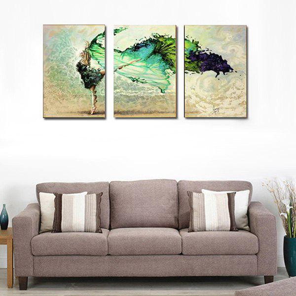3PCS Dancer Printing Canvas Wall Decoration