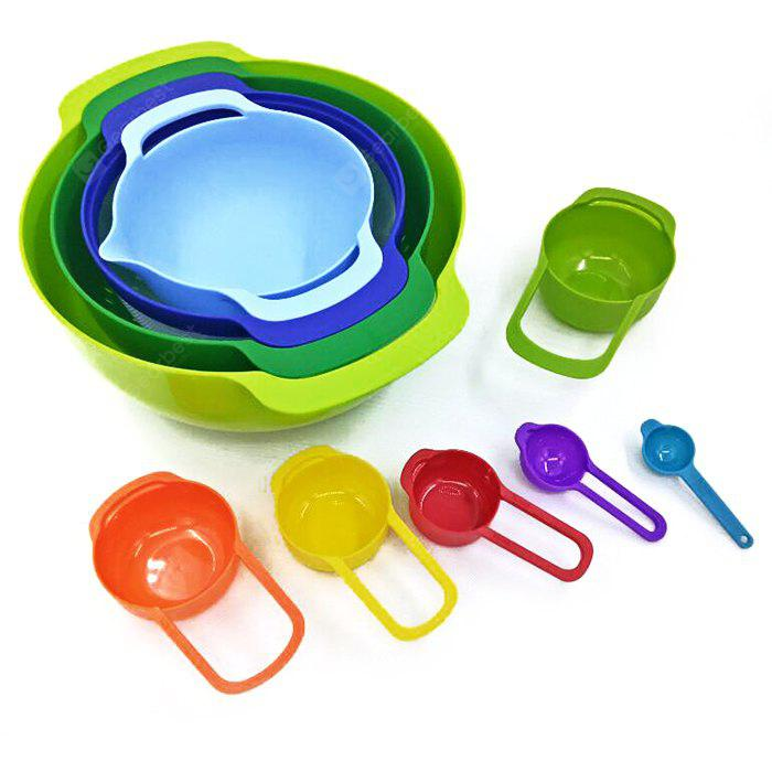 10pcs Colorful Measuring Spoon and Cup
