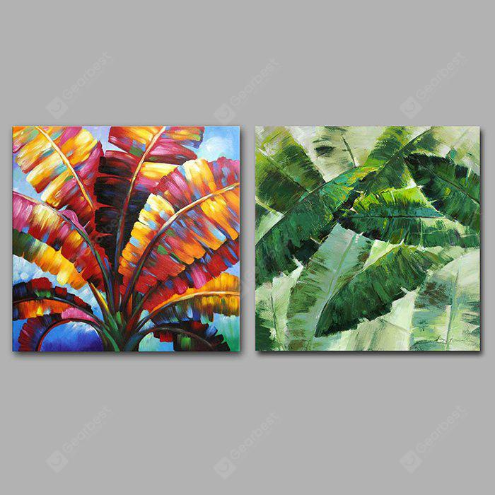 Happy Art Hand Painted Leaf Oil Painting Decorative Wall Art