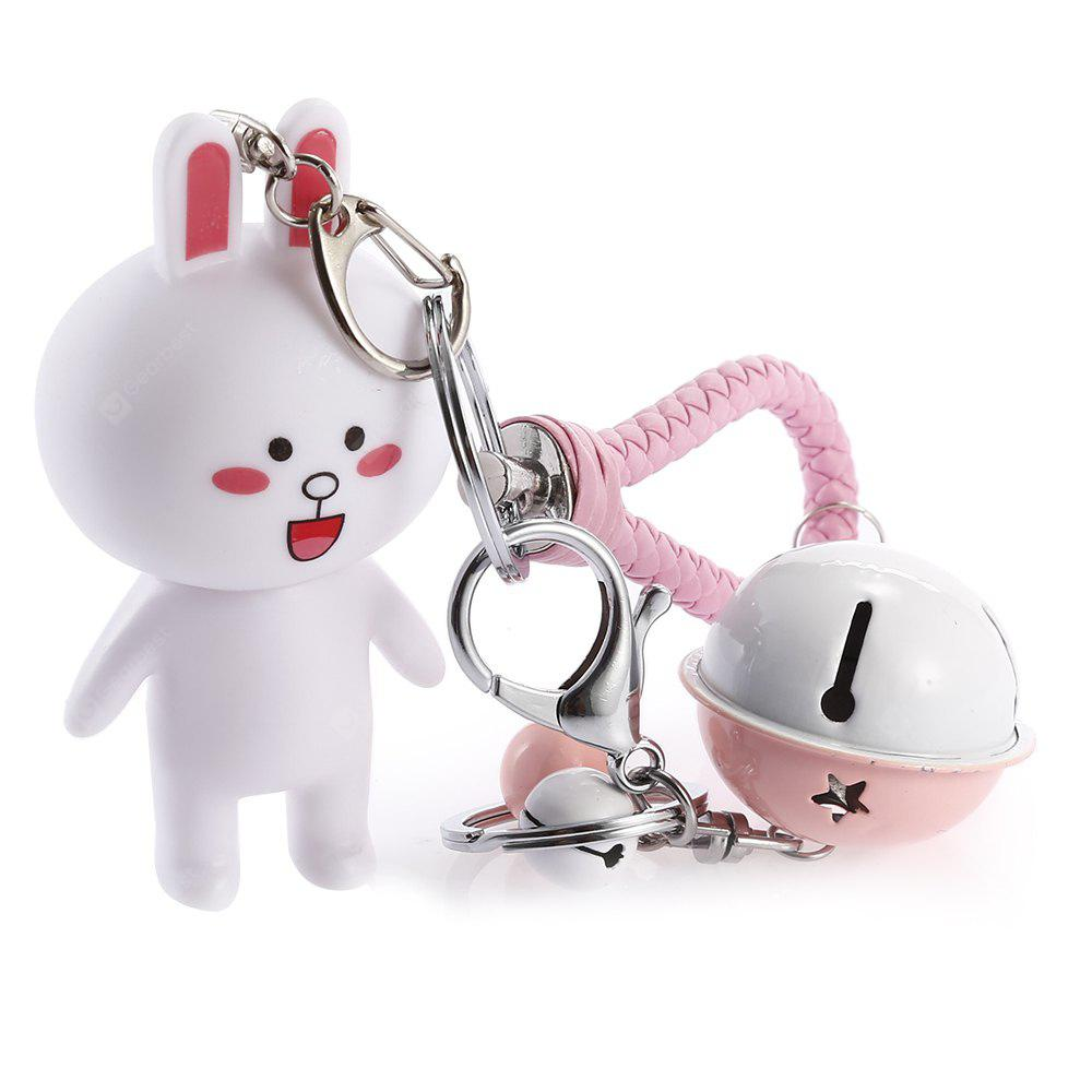 Rotatable Head Cute Cartoon Rabbit Key Chain