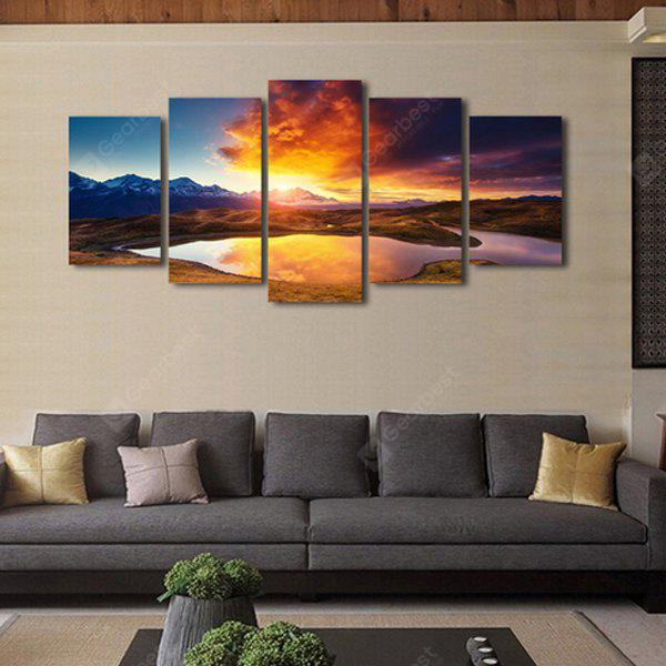5pcs Combination Printing Canvas Wall Decoration