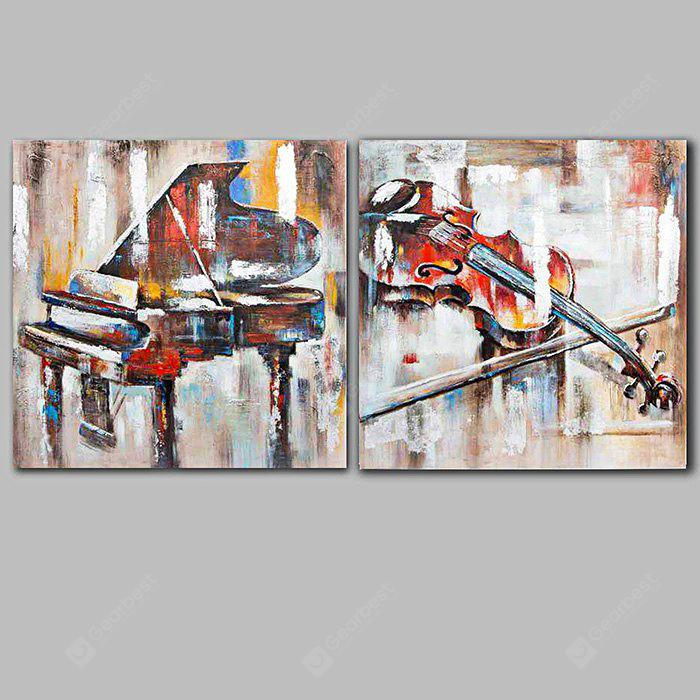 Happy Art Modern Hand Painted Canvas Instruments Oil Painting
