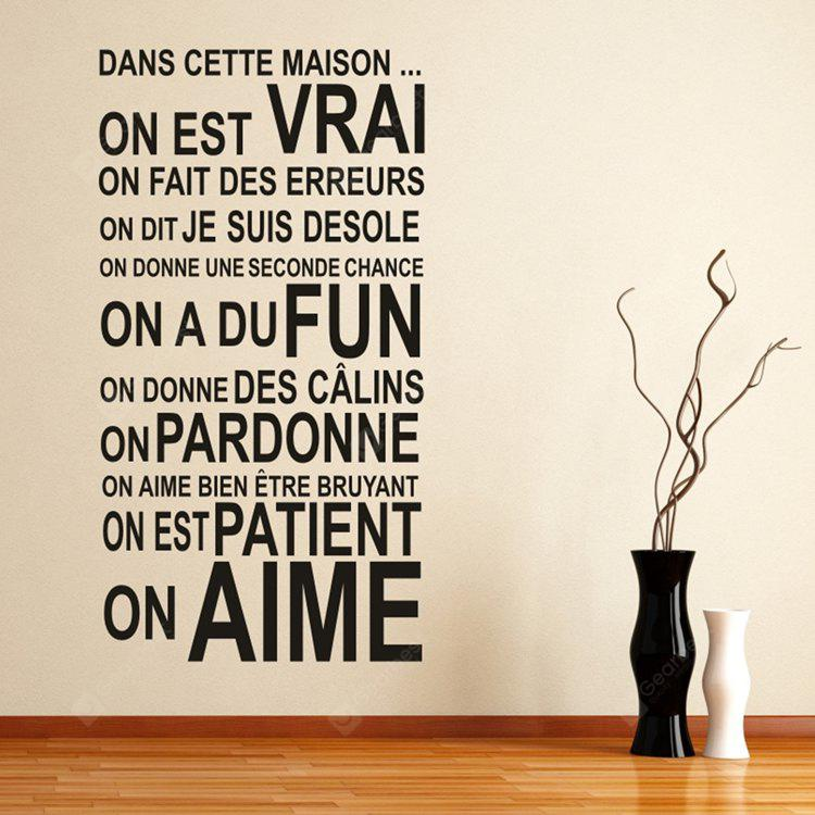 DIY Wallpaper French Quote Stickers for Creative Wall Art