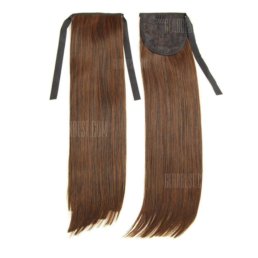 Buy TODO D13 Fashion Straight Style Ponytail Hair Extensions 50CM LIGHT BROWN