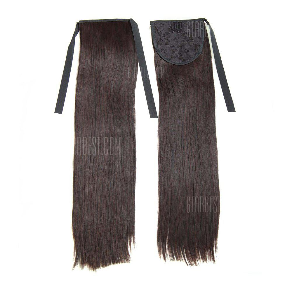 Buy TODO D13 Fashion Straight Style Ponytail Hair Extensions 50CM DEEP BROWN