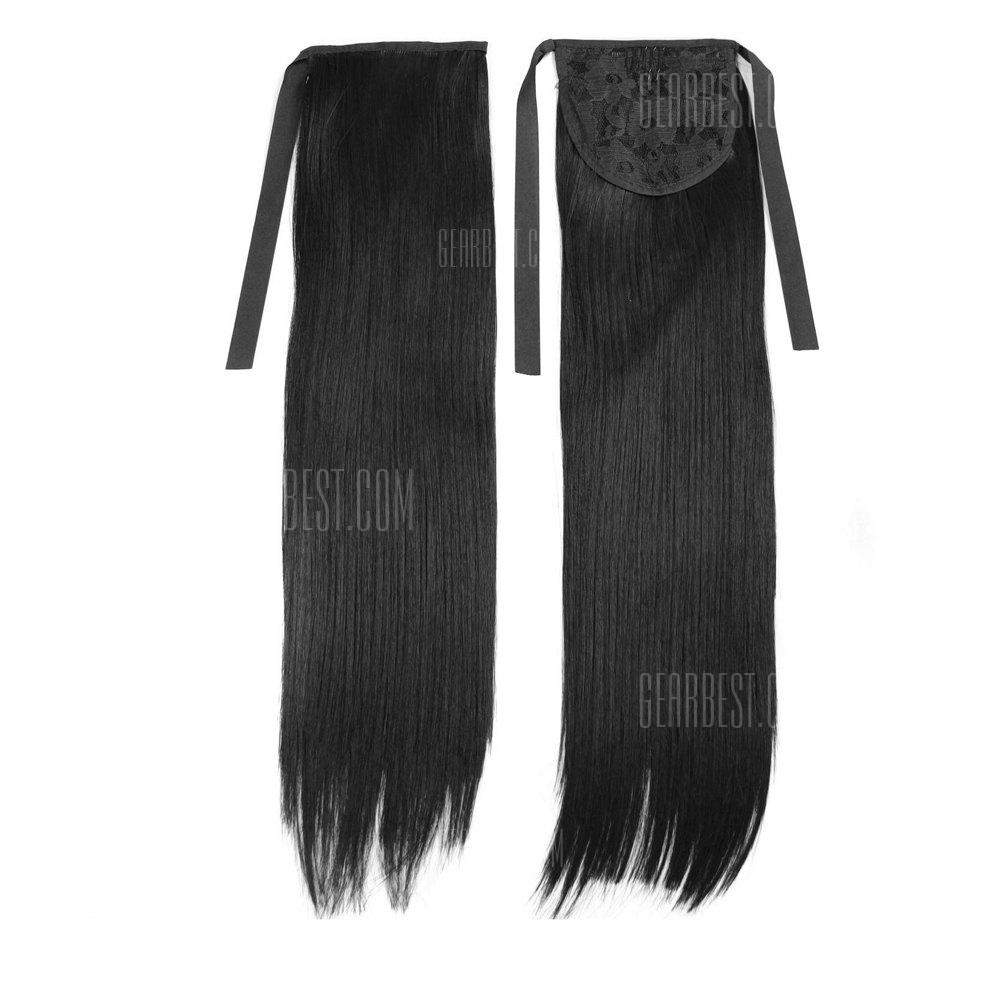 Buy TODO D13 Fashion Straight Style Ponytail Hair Extensions 50CM BLACK BROWN