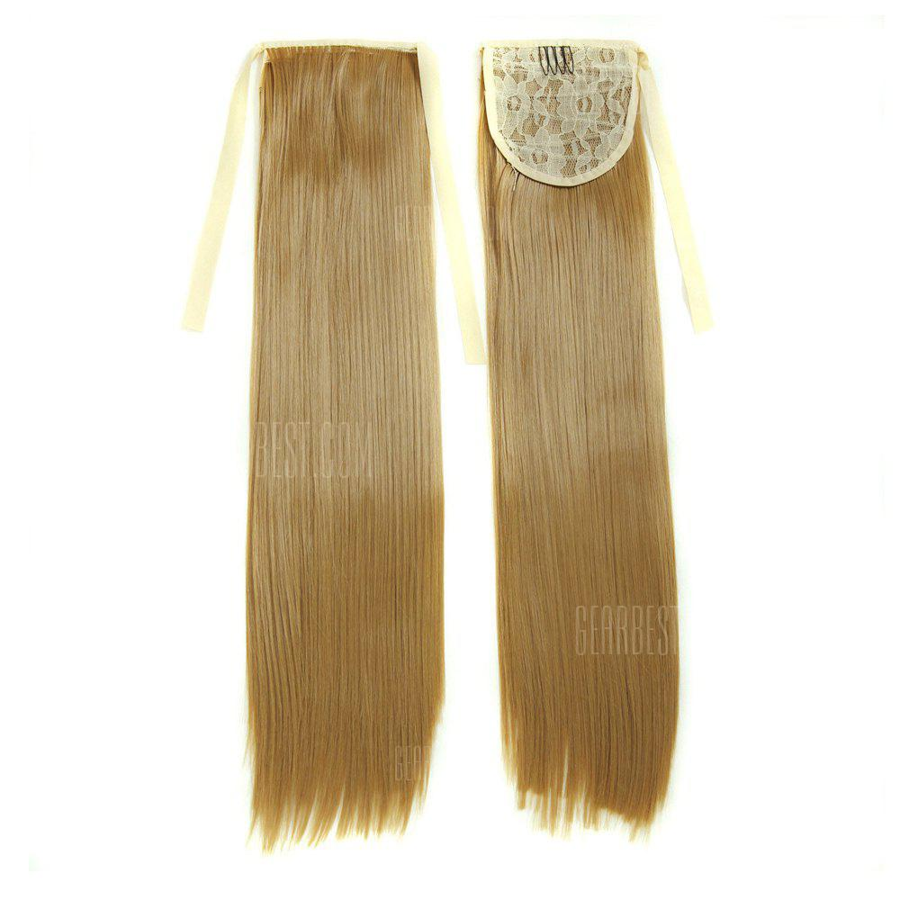Buy TODO D13 Fashion Straight Style Ponytail Hair Extensions 50CM GOLD BROWN