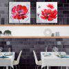 Happy Art Oil Painting Modern Flower Bicycle Canvas Material Decoration - RED