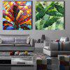 Happy Art Hand Painted Leaf Oil Painting Decorative Wall Art - COLORFUL