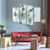 4PCS Printed White Carnation Paint Canvas Print Room Decor - MULTI