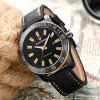 LONGBO Male Luminous Quartz Watch with Date Calendar - YELLOW AND BLACK