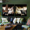 2PCS Leaning Tower Printing Canvas Wall Decoration - MULTI