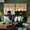 2PCS Tower Printing Canvas Wall Decoration - MULTI