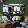 2PCS Tower and Sea Printing Canvas Wall Decoration - MULTI