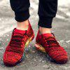 Air-cushioned Fabric Running Sneakers for Men - RED