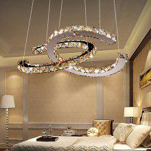 Modern Stainless Steel 3000K LED Crystal Chandelier 220V