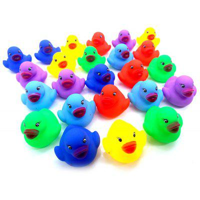 12pcs Bath Toys Squeeze Duck with Sound