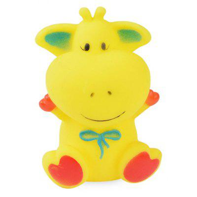 Cartoon Animal Squirt Stretchy Bath Toy of Cow