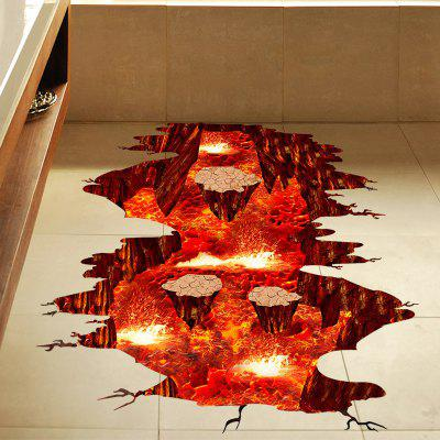 Creative 3D Volcanic Magma Home Decor Wall Sticker