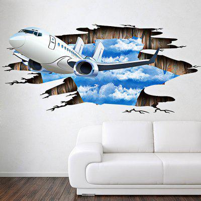 3D Sky Plane Pattern Home Decoration Sticker