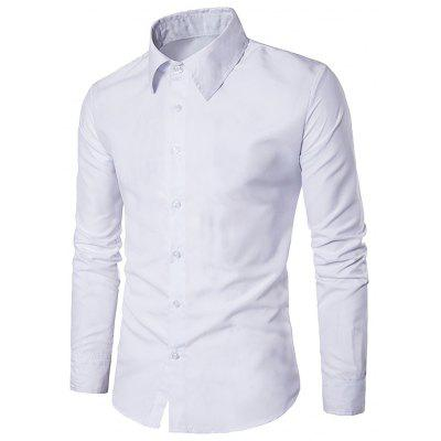 Men Casual Business Fashion Long Sleeve Shirt