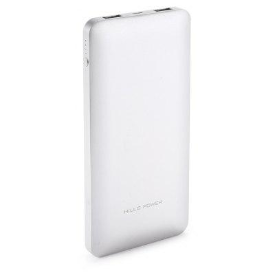 HILLO POWER Z2 10000mAh Mobile Power Bank Dual USB 2.4A Fast Charge