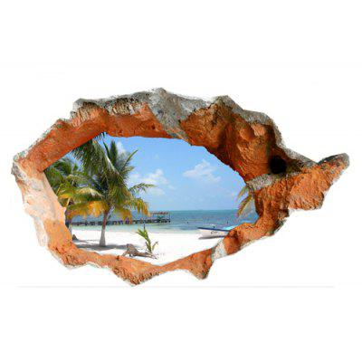 Creative Hole Wall Sticker Wallpaper