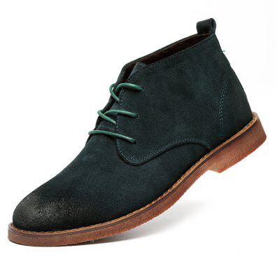 Men Medium Top Suede Casual Ankle Boots