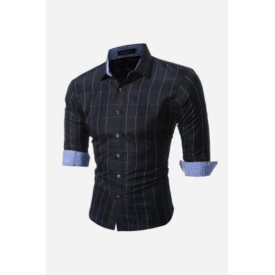 Business Fashionable Classical Long-sleeve Checked Shirt