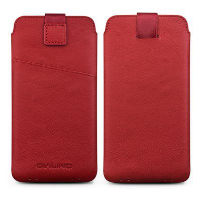 QIALINO Genuine Leather Phone Case Cover Pouch Card Holder for Samsung Galaxy S8 / S8 Plus