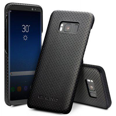 QIALINO Genuine Leather Back Cover Phone Case Protector for Samsung Galaxy S8 Plus