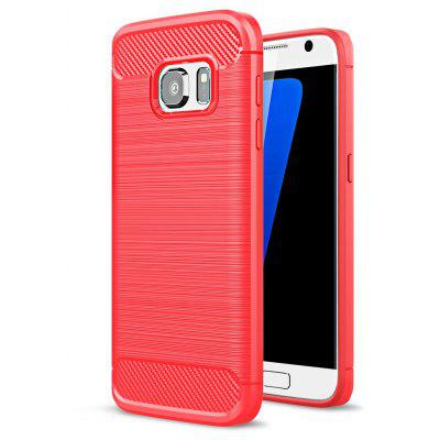 ASLING Carbon Fiber TPU Brushed Finish Case for Samsung Galaxy S7