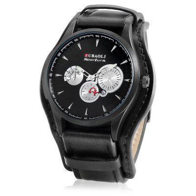 JUBAOLI 9913 Men Watch with Leather Band