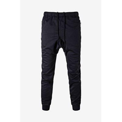 Buy BLACK Men Casual Leisure Harem Pants in Solid Color for $19.41 in GearBest store